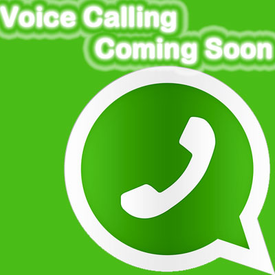 WhatsApp Voice Coming Soon