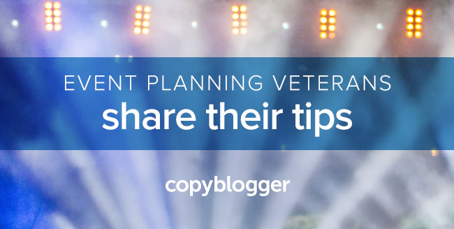 event planning veterans share their tips