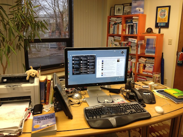 Image of David Meerman Scott's Desk
