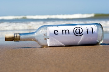 image of email in a bottle