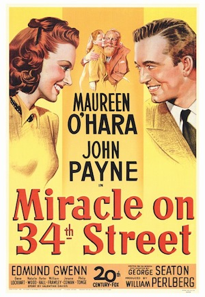 image of miracle on 34th street poster