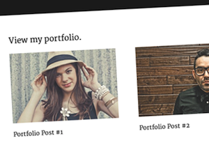 Image of the Modern Portfolio Theme by StudioPress