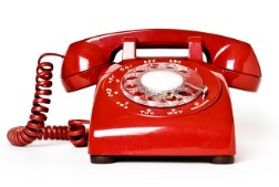 image of red telephone