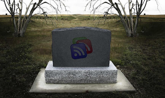 Image of Google Reader Headstone