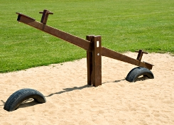 image of seesaw in playground