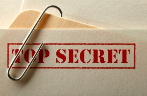 image of file marked top secret