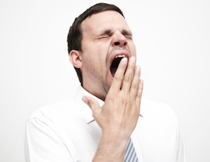image of man yawning