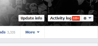 Facebook Timeline Activity Log Przycisk